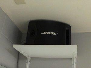 池袋 レンタルスタジオ の スピーカー は BOSE で迫力満点。